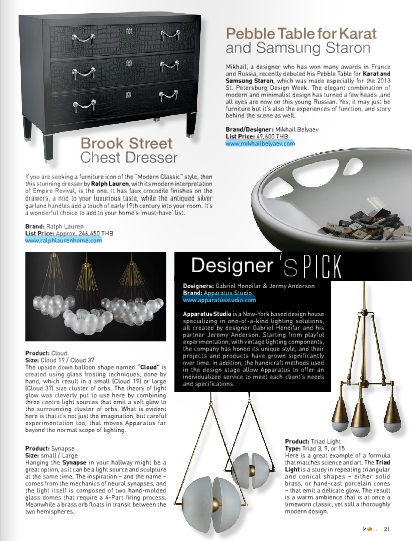 September 2013 | Designer's Pick