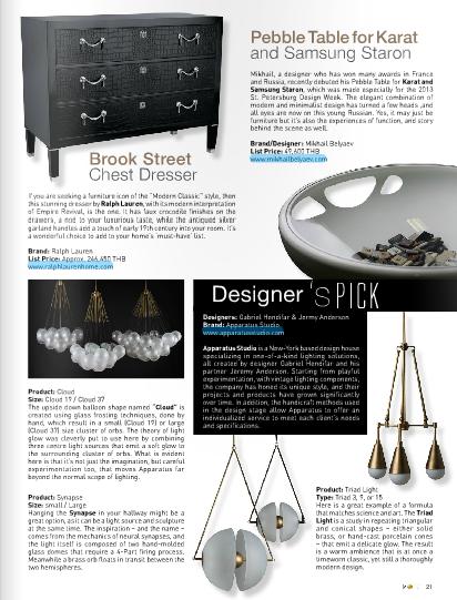 September 2013 | Designer's Pick